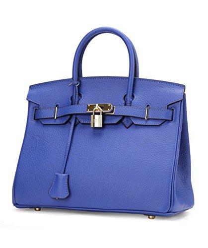 689ac101de4e9c Women's Designer Litchi Grain Genuine Leather Handbags, Luxury BK Style Top  Handle Tote Messenger Purse Padlock Bags. Return to Previous Page. lightbox