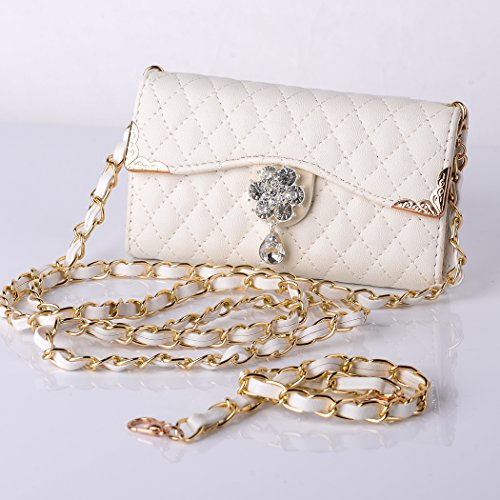 Mybase Multi Purpose Fashion Luxury Diamond Three Fold Wallet Pu